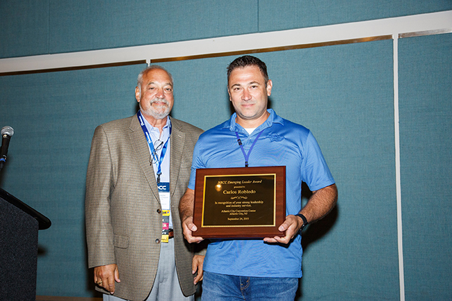 Carlos Robledo of AquaTech Car Wash Solutions was also presented with an Emerging Leader award by Co-Chairman Mike Benmosche.