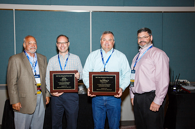 The Most Distinguished Person Award was presented to Jeff Gold of Buckman's Car Wash, Tom Hoffman, Jr. of Hoffman Car Wash (and Brett Benderson of Delta Sonic, no present) by 2019 Co-Chairs Mike Benmosche and Walt Hartl.